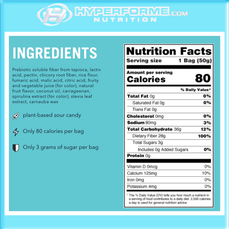 Smart Sweets - sour blast buddies nutrition facts