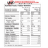 Vega Sport Performance Protein NUTRITION FACTS INFO (2465838137421)
