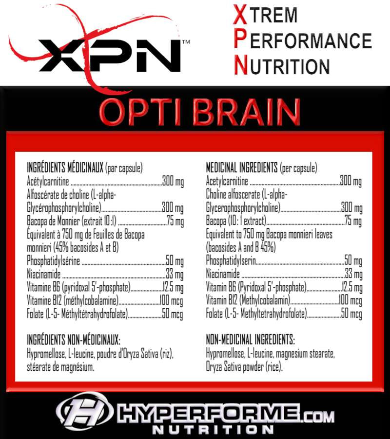 XPN Opti Brain - 120 caps - XPN - Hyperforme.com