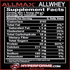 Allmax Allwhey Classic nutrition facts (2465825521741)