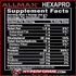 allmax HEXAPRO info nutrition facts (3785492693069)