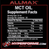 allmax MCT OIL NUTRITION FACTS (3587342139469)