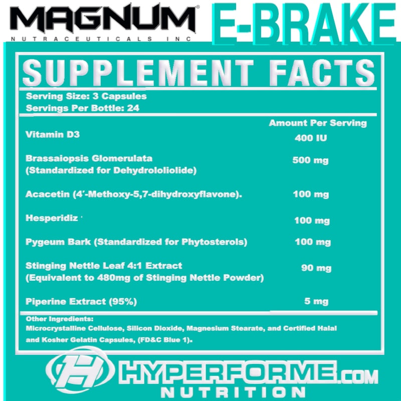magnum e-brake SUPPLEMENT FACTS