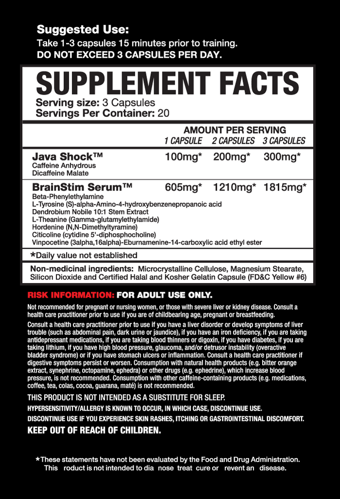 Magnum Nutraceuticals Rocket Science - 60 caps nutri (2465808187469)