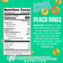 smart sweets peach rings nutrition facts