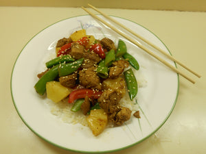 Pork, Pineapple, and Snow Pea Stir Fry