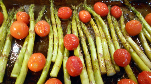 Asparagus and Tomatoes after roasting