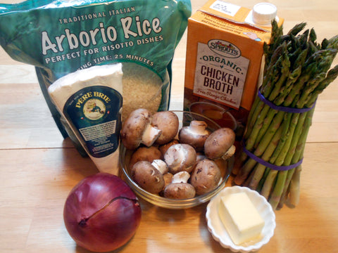 Ingredients for Spring Vegetable Risotto