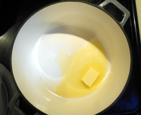Butter melting in Dutch Oven