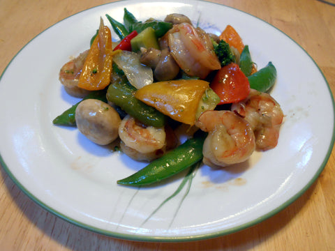 Shrimp and Vegetable Stir Fry - a art of my meal plan ever Lent