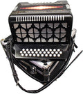 Bonetti Black Diatonic Button Accordion w/Case GCF 3012