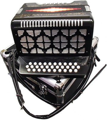Bonetti Black Diatonic Button Accordion w/Case EAD 3012