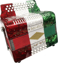 Bonetti Tex Mex Diatonic Button Accordion w/Case EAD 3012