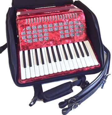 Bonetti Red 32 Bass Piano Accordion 30 Key w/Free Soft Case (3032)