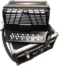 Bonetti Black 3-Switch Diatonic Button Accordion w/Case EAD 3412