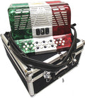 Bonetti Tex Mex 3-Switch Diatonic Button Accordion w/Case EAD 3412
