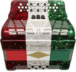 Bonetti Tex Mex 3-Switch Diatonic Button Accordion w/Case FBE 3412