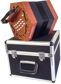 Bonetti 30 Button Natural Finish Concertina Accordion w/Case