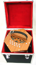Bonetti 20 Button Natural Concertina Accordion w/Case