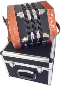 Holiday Sale Bonetti 20 Button Natural Concertina Accordion w/Case