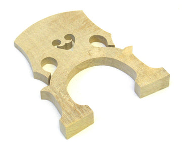 Upright Double Bass Bridge 4/4 Size - Wooden Blank Bridge