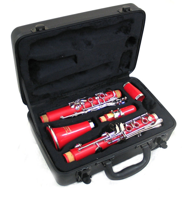 Holiday Sale E.F. Durand Clarinet Red w/Nickel Keys and Case