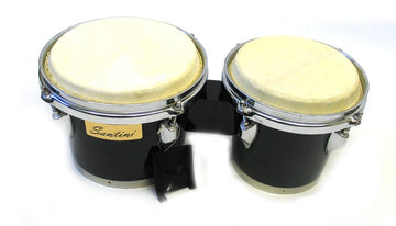 Holiday Sale Double Mini Bongo Drum Set w/Black Finish