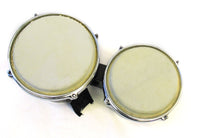Double Mini Bongo Drum Set w/Black Finish
