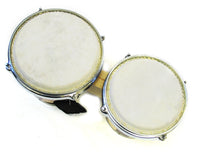 Holiday Sale Double Mini Bongo Drum Set w/Striped Finish