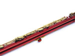 E.F. Durand Flute C Key Red w/Gold Keys & Case FL-650R