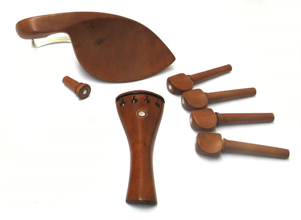Violin Fitting Set 1/2 Size Datewood w/Mother of Pearl #6