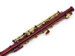 E.F. Durand Piccolo C Key Red w/Gold Keys & Case