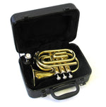 E.F. Durand Brass Mini Pocket Trumpet w/Case