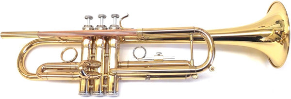 Trumpet Bb w/Brass Finish - Rose Gold Pipe and Case