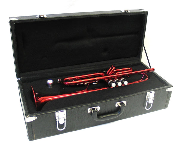 Trumpet Bb w/Red Finish and Case