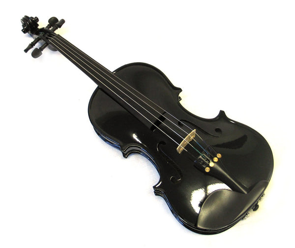 Helmke 1/8 Child Size Black Finish Violin Set w/Case and Bow