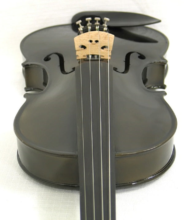 Helmke 3/4 Size Black Finish Violin Set w/Case and Bow