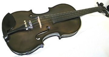 Holiday Sale Helmke 4/4 Size Black Finish Violin Set w/Case and Bow