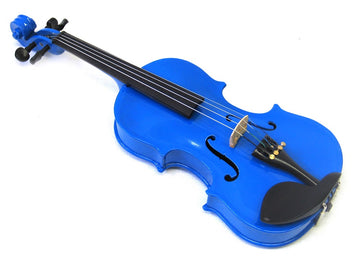 Helmke 1/16 Child Size Blue Finish Violin Set w/Case and Bow