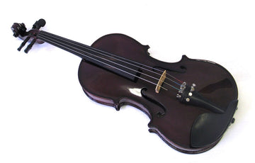 Helmke 1/4 Child Size Purple Finish Violin Set w/Case and Bow