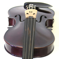 Helmke 3/4 Size Purple Finish Violin Set w/Case and Bow