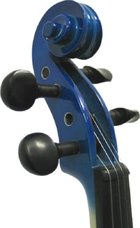 Helmke 1/4 Child Size Blue Finish Violin Set w/Case and Bow