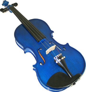 Helmke 4/4 Size Blue Finish Violin Set w/Case and Bow