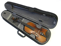 Helmke Left Handed 1/2 Size Antique Finish Violin Set w/Case and Bow