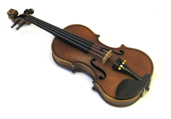 Helmke 1/8 Child Size Antique Finish Violin Set w/Case and Bow