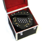 Bonetti 30 Button Black Concertina Accordion w/Case