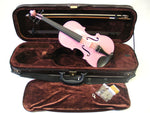 Holiday Sale Helmke 4/4 Size Transparent Pink Finish Violin Set w/Case and Bow