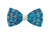 Brackish Feather Bow Tie - Codell