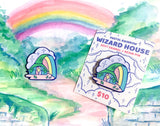 WIZARD HOUSE blue plated soft enamel pin