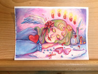 """Sleeping Angel"" ORIGINAL 5x7 Painting"
